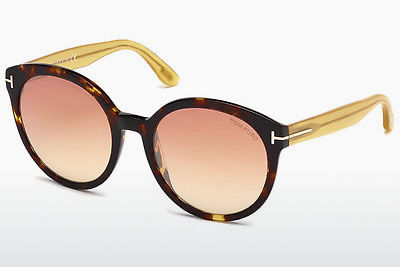 Lunettes de soleil Tom Ford Philippa (FT0503 52Z) - Brunes, Dark, Havana