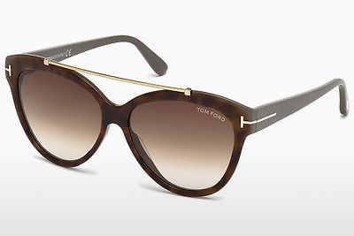 Lunettes de soleil Tom Ford Livia (FT0518 53F) - Havanna, Yellow, Blond, Brown