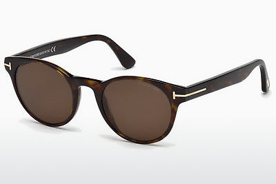 Lunettes de soleil Tom Ford Palmer (FT0522 52E) - Brunes, Dark, Havana