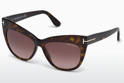 Lunettes de soleil Tom Ford Nika (FT0523 52F) - Brunes, Dark, Havana
