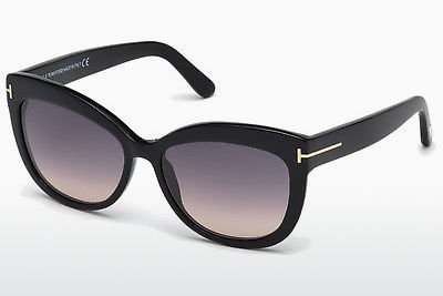Lunettes de soleil Tom Ford Alistair (FT0524 01B) - Noires, Shiny