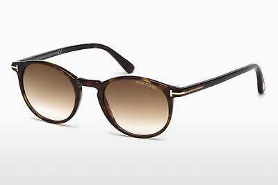 Lunettes de soleil Tom Ford Andrea (FT0539 52F) - Brunes, Dark, Havana