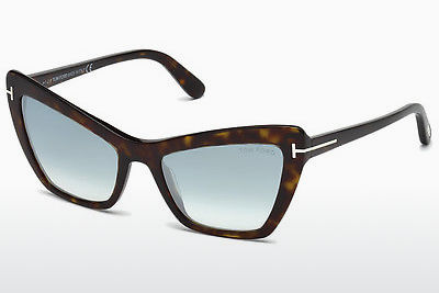 Lunettes de soleil Tom Ford Valesca (FT0555 52X) - Brunes, Dark, Havana