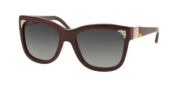 Bvlgari BV8134K 5324T3 POLAR GREY GRADIENTBURGUNDY