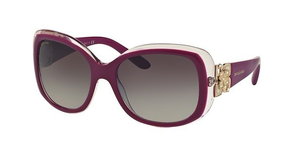 Bvlgari BV8172B 53928G GREY GRADIENTTOP VIOLET ON PINK CRYSTAL