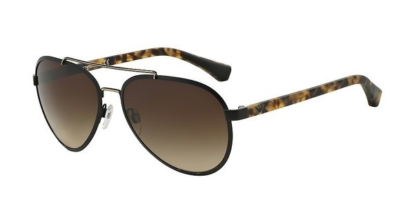 Emporio Armani EA2024 300113 BROWN GRADIENTMATTE BLACK/PALE GOLD