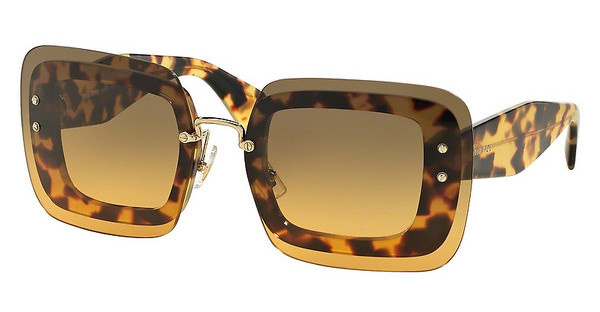 Miu Miu MU 02RS 7S00A3 ORANGE GRADIENT LIGHT GREENLIGHT HAVANA