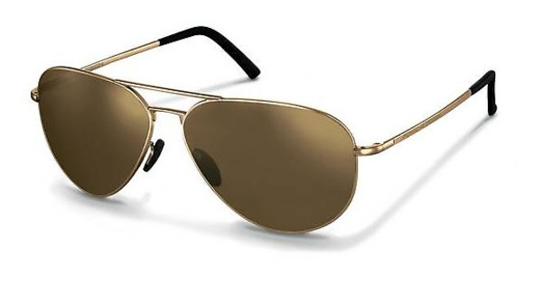 Porsche Design P8508 E brown, gold mirroredlight gold