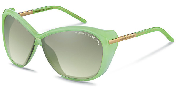 Porsche Design P8603 B light brown, silver mirroredsoft green
