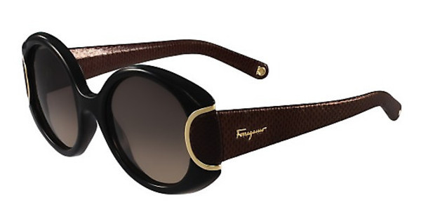 Salvatore Ferragamo SF811SL SIGNATURE 960 BLACK W-CHOCOLATE LEATHER