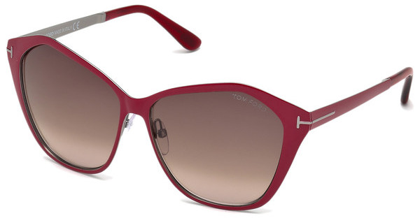 Tom Ford FT0391 69Z verspiegeltbordeaux glanz