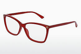 Lunettes design Gucci GG0025O 004 - Rouges
