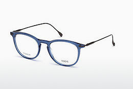 Lunettes design Tod's TO5187 090 - Bleues, Shiny