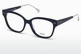 Lunettes design Tod's TO5191 090 - Bleues, Shiny