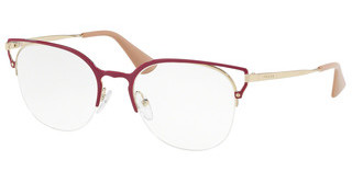 Prada PR 64UV LFA1O1 RED/PALE GOLD