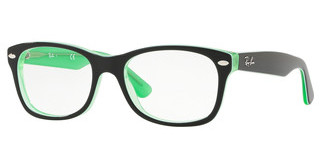Ray-Ban Junior RY1528 3764 GREEN TRASP ON TOP BLACK