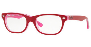 Ray-Ban Junior RY1555 3761 TRANSPARENT PINK ON TOP BORDEA