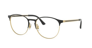 Ray-Ban RX6375 3051 MATT BLACK ON RUBBER GOLD