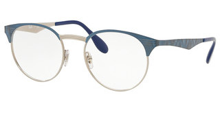 Ray-Ban RX6406 3025 SILVER ON TOP BLUE MOVE