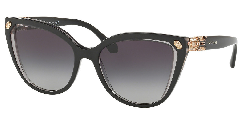 Bvlgari   BV8212B 54718G GREY GRADIENTTOP BLACK ON TRANSPARENT GREY