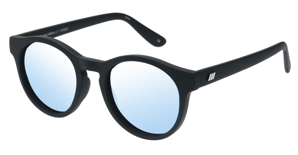 Le Specs   HEY MACARENA LSP1702027 ICE BLUE REVO MIRROR POLARIZED LENSBLACK RUBBER