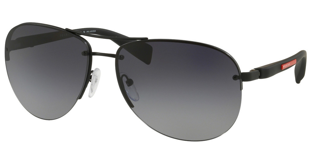 Prada Sport   PS 56MS DG05W1 POLAR GREY GRADIENTBLACK RUBBER