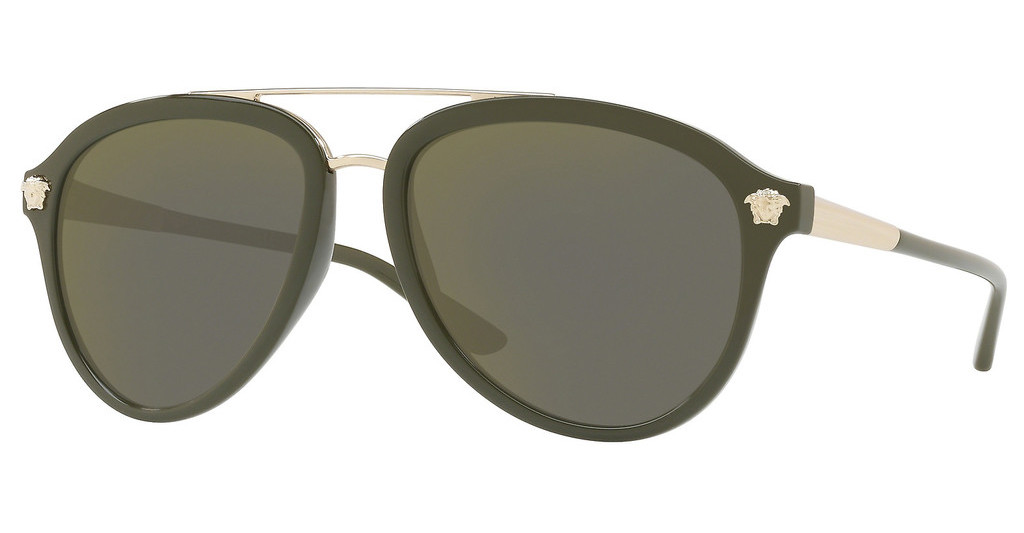 Versace   VE4341 52624T DARK GREY MIRROR GOLDMILITARY GREEN