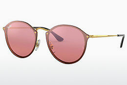 Lunettes de soleil Ray-Ban Blaze Round (RB3574N 001/E4) - Or