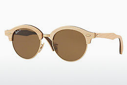 Lunettes de soleil Ray-Ban Clubround Wood (RB4246M 117957) - Or