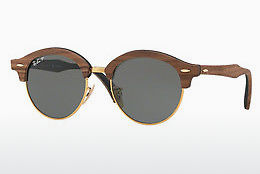 Lunettes de soleil Ray-Ban Clubround Wood (RB4246M 118158) - Or