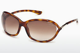 Lunettes de soleil Tom Ford Jennifer (FT0008 52F) - Brunes, Dark, Havana