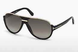 Lunettes de soleil Tom Ford Dimitry (FT0334 01P) - Noires, Shiny