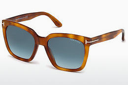 Lunettes de soleil Tom Ford Amarra (FT0502 53W) - Havanna, Yellow, Blond, Brown