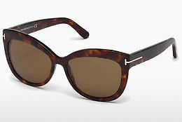 Lunettes de soleil Tom Ford Alistair (FT0524 54H) - Havanna, Red