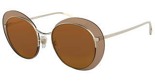 Giorgio Armani AR6079 30136H BROWN MIRROR GOLDPALE GOLD
