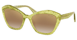 Miu Miu MU 05US 147167 CLEAR GRAD BROWN MIRROR GOLDGLITTER YELLOW