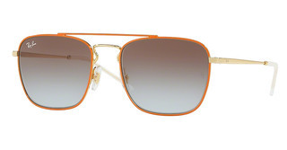 Ray-Ban RB3588 90612W LIGHT BLUE GRADIENT BROWNGOLD TOP ON ORANGE