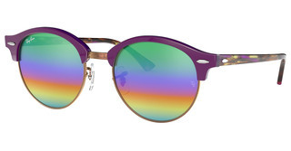 Ray-Ban RB4246 1221C3 LIGHT GREY MIRROR RAINBOW 2TOP VIOLET ON TRASPARENT VIOLE