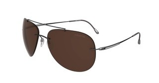 Silhouette 8142 6201 Polarized BrownSilky-Matt Brown