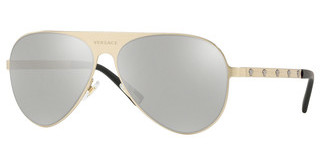 Versace VE2189 13396G LIGHT GREY MIRROR SILVERBRUSHED PALE GOLD