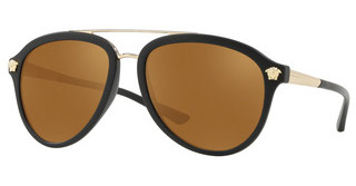 Versace VE4341 51226H BROWN MIRROR GOLDMATTE BLACK