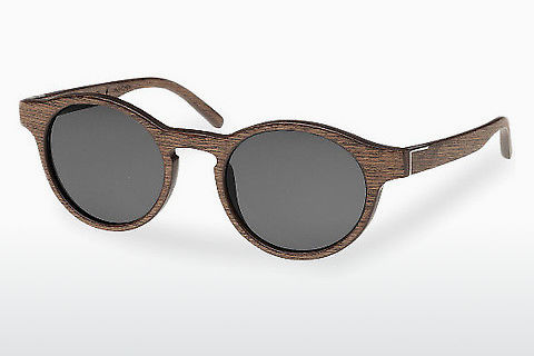 Lunettes de soleil Wood Fellas Flaucher (10754 black oak/grey)