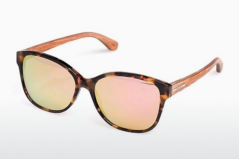 Lunettes de soleil Wood Fellas Basic Wallerstein (10794 zebrano)